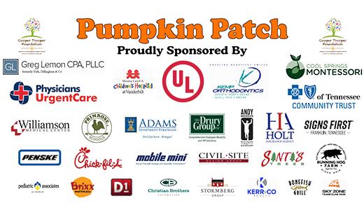2017 Cooper Trooper Foundation Pumpkin Patch Sponsors