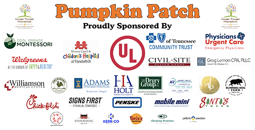 2018 Cooper Trooper Foundation Pumpkin Patch Sponsors