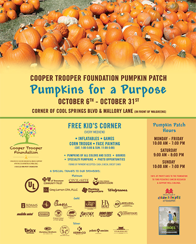2018 Cooper Trooper Foundation Pumpkin Patch Flyer